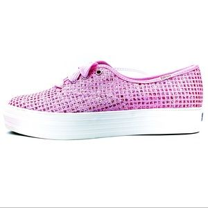 🆕 Keds Triple CVO Sparkle Grid Sneakers Shoes 8